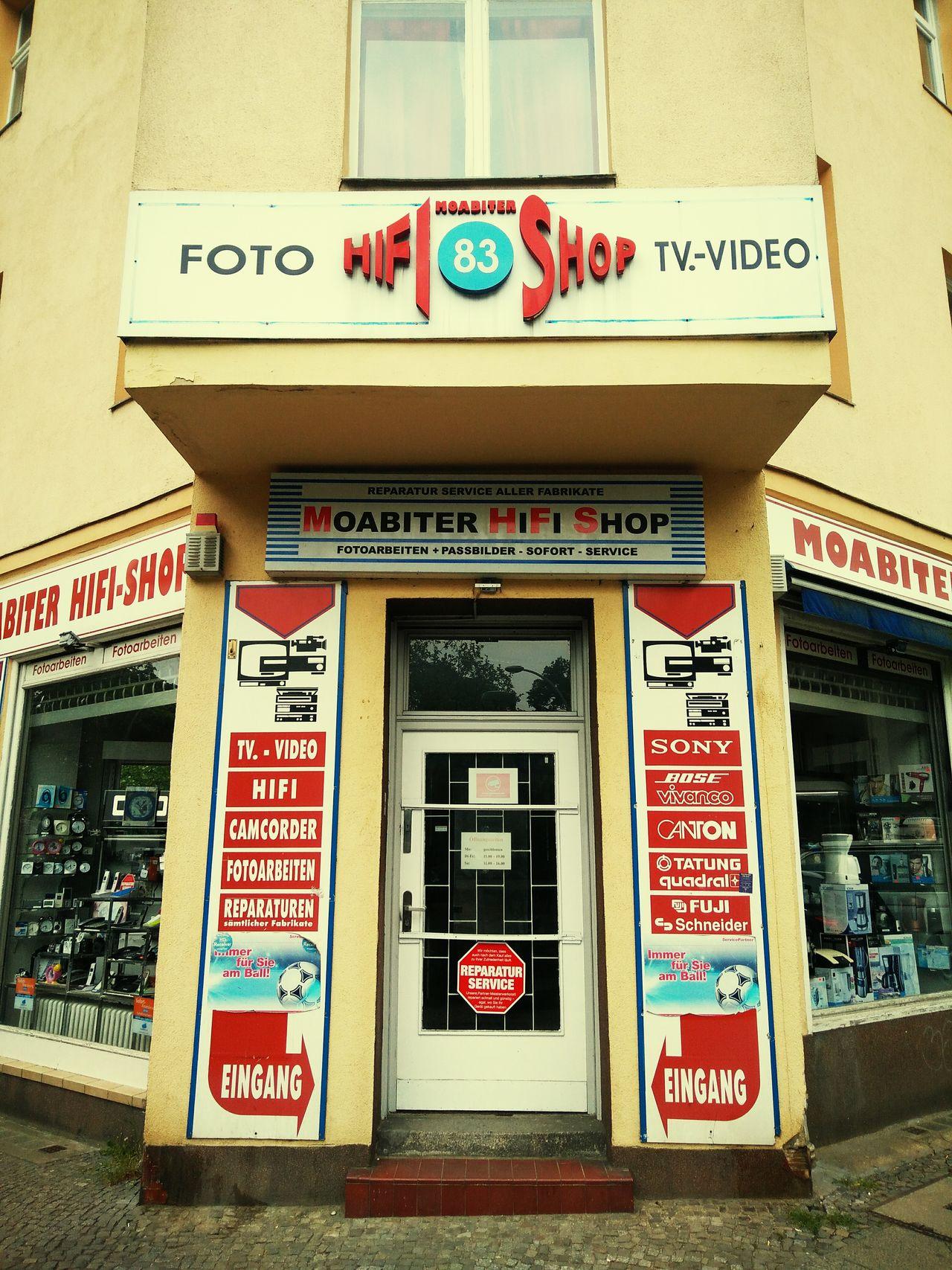 Hi-Fi shop. Berlin Laden Shop