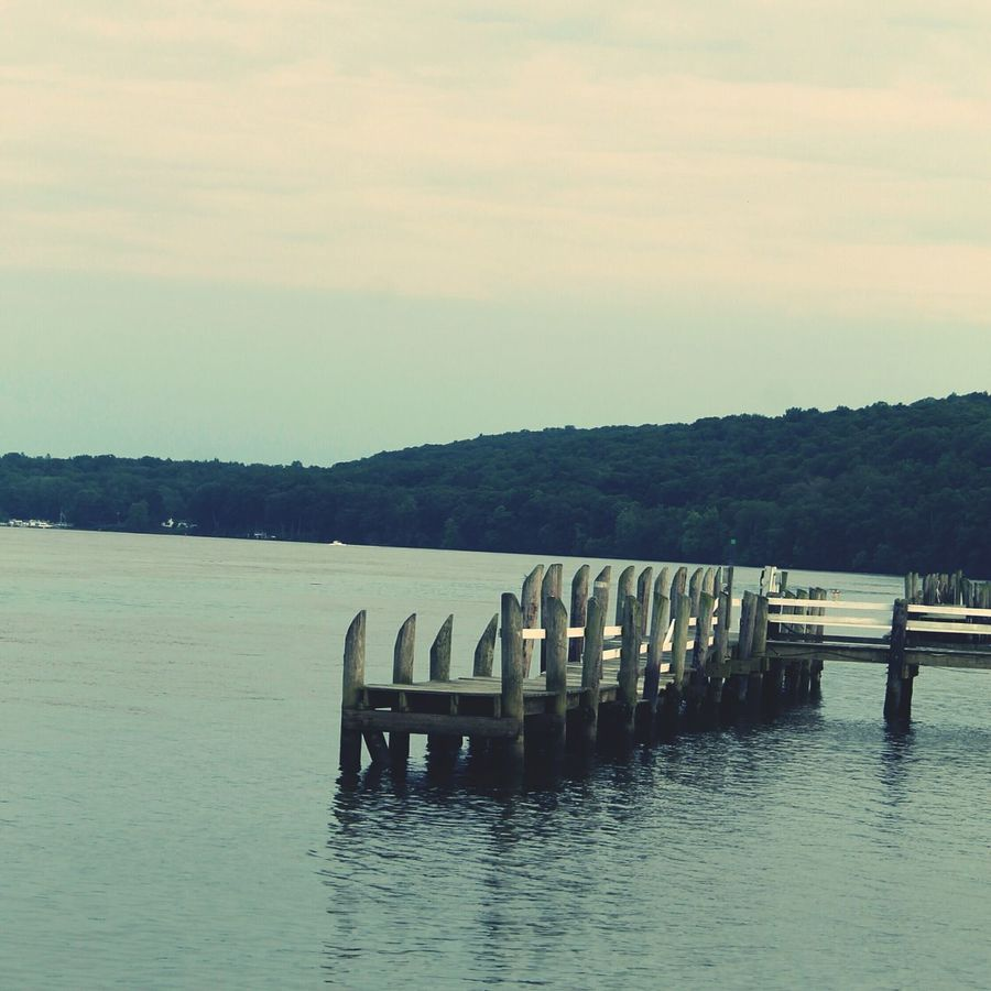 Water State Park  On The Docks