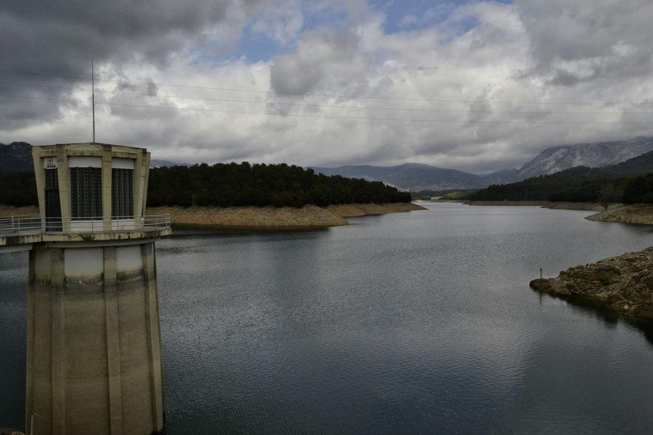 Embalse Dam Reservoir Pantano De La Bolera Embalse De La Bolera Water Nature Clouds And Sky