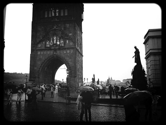 black and white at Prague town by Luca Max