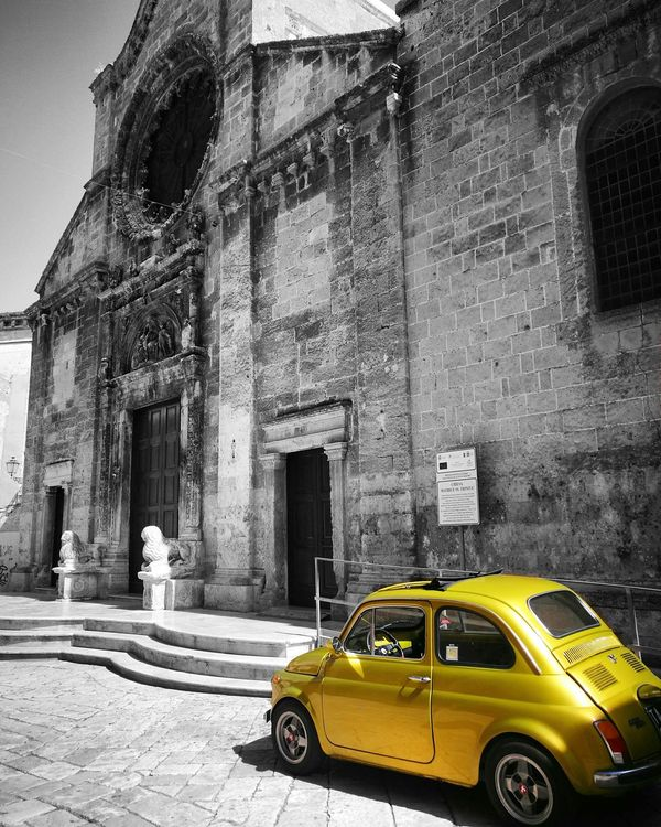 Blackandwhite Yellow Chiesa Madre Centro Storico Manduria Salento Puglia First Eyeem Photo