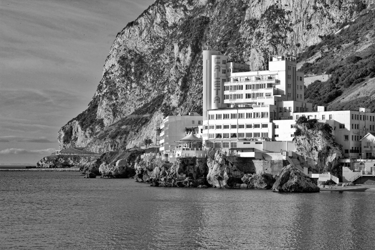 Architecture Black And White Landscape Black And White Sea View Black And White Seaview Built Structure Caleta Hotel Caleta Hotel Gibraltar Coastline Gibraltar Gibraltar Black And White Landscape Gibraltar Landscape Gibraltar Rock Gibraltarview Hotel View Residential Building Residential District Rippled Rock Rock - Object Rock Formation Sky Town Tranquility Water Waterfront