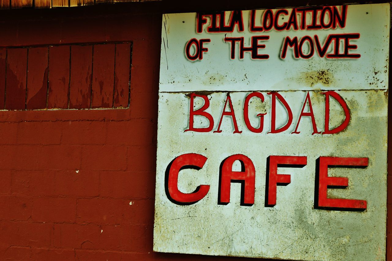 The Bagdad Cafe is a small cafe from the 1960s along Route 66 in the Mojave Desert that was made famous upon the release of the 1987 German film under the same name. American Americana Arizona Bagdad Cafe California Canon EOS 7D Mark II Desert EyeEm EyeEm Best Shots EyeEm Gallery Getty Getty Images Getty X EyeEm Gettyimages Hello World Mojave Desert MOVIE Old Motel Old Motel Sign Sign Trailer Travel Trips United States USAtrip