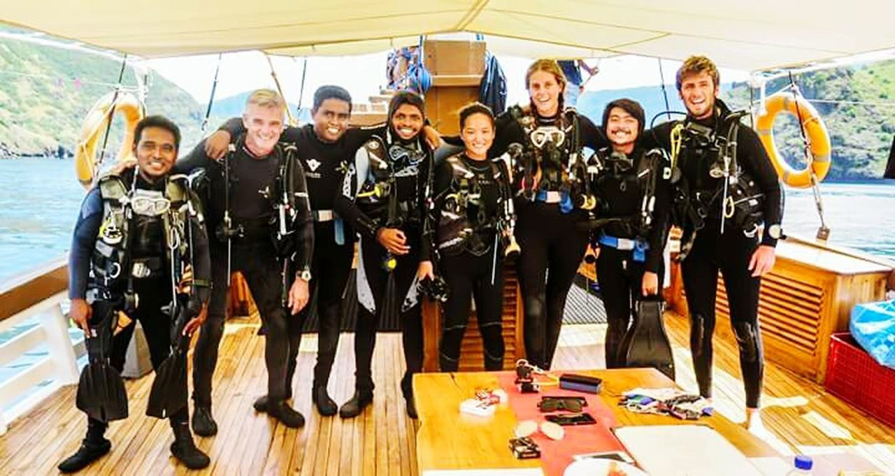 My Year My View Looking At Camera Togetherness Teamwork Outdoors Diving Diver Divetrip