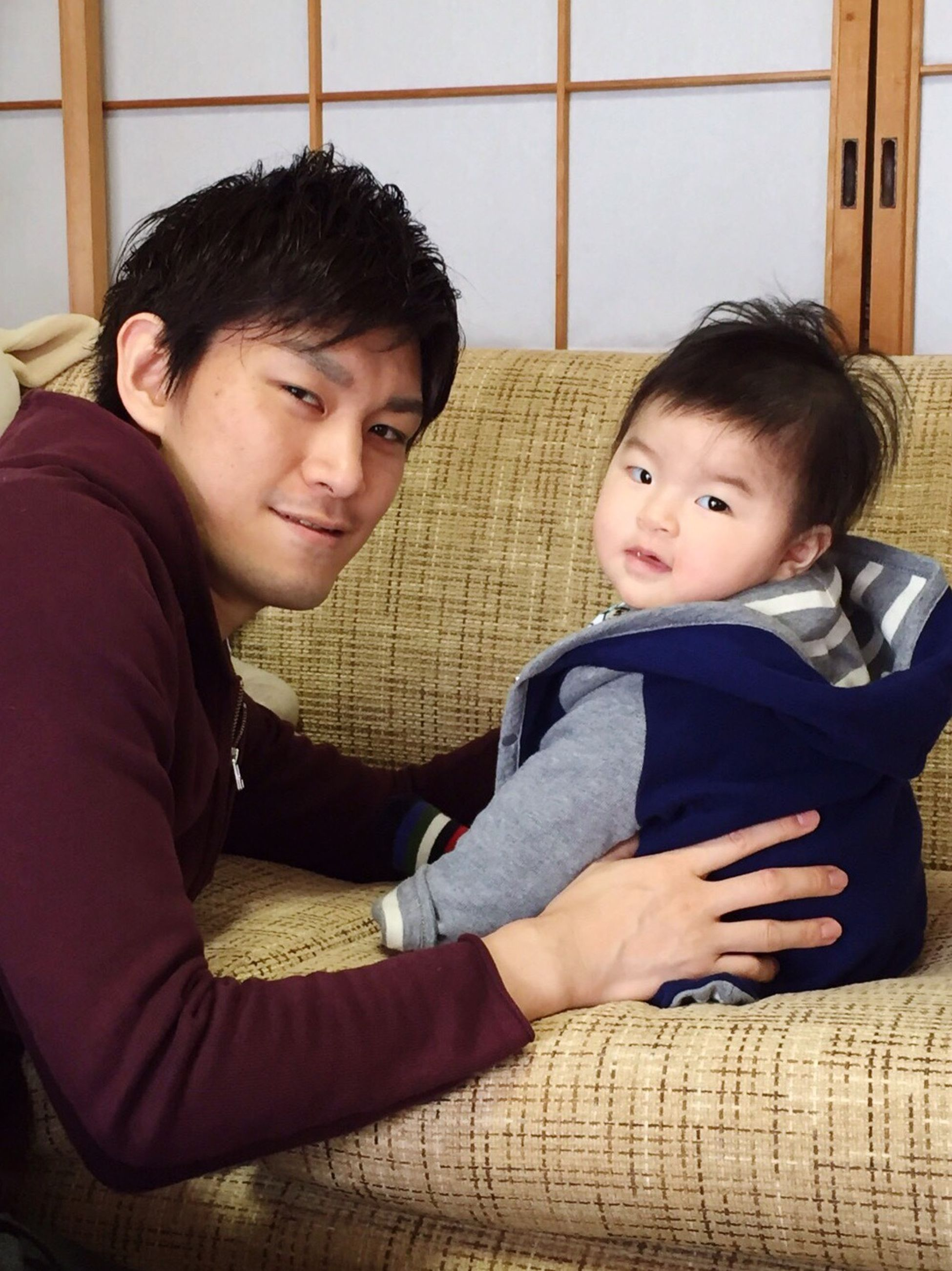 my favorite photo❤️ Father & Son Cute Two People Looking At Camera Family Happiness Mysweetbabies Love ♥ Favorite MyTreasure