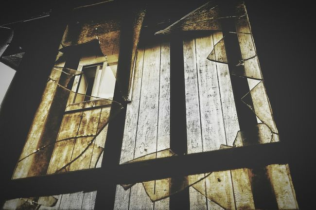 Broken Window Broken Glass Abstract Photography Abandoned Places Abandoned House Perspective Photography Perspective View Abstractions In Colors Abstract Through The Window Iron Bars Silverton, Colorado Country Photography Cell Phone Photography Showcase June Fresh On Eyeem