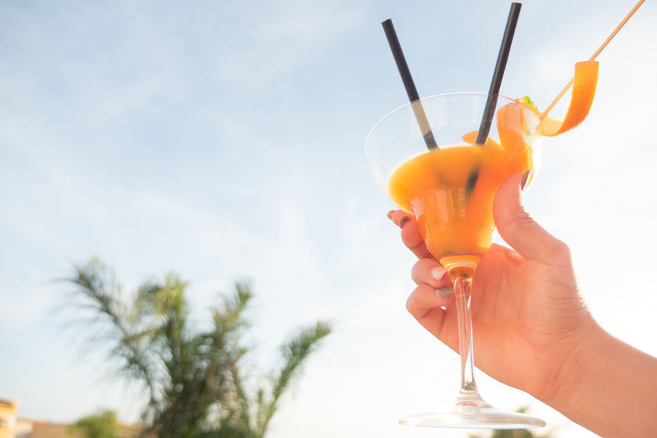 Beautiful stock photos of palm tree,  Alcohol,  Blue,  Built Structure,  Clear Sky