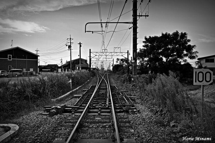 Railroad Track EyeEm Team EyeEm Best Shots EyeEmNewHere Japan Blackandwhite Blackandwhite Photography Black And White Photography 鳥取県