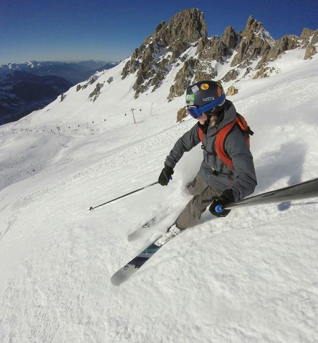 Skiing France Meribel Gopro Goprohero Composition Hello World That's Me No Edit/no Filter Capture The Moment Whatever It Takes Snow Powder Les 3 Vallée Alps