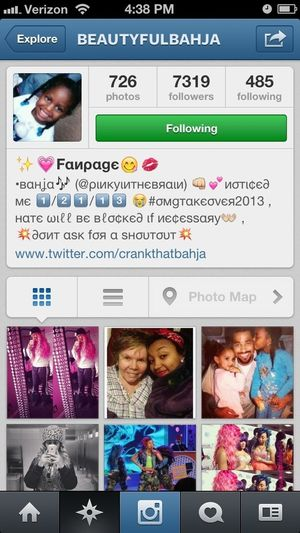 """Y'all go follow this """"Fanpage"""" On Instagram. She got real love for One of the OMG GIRLZ. (Bahja)"""