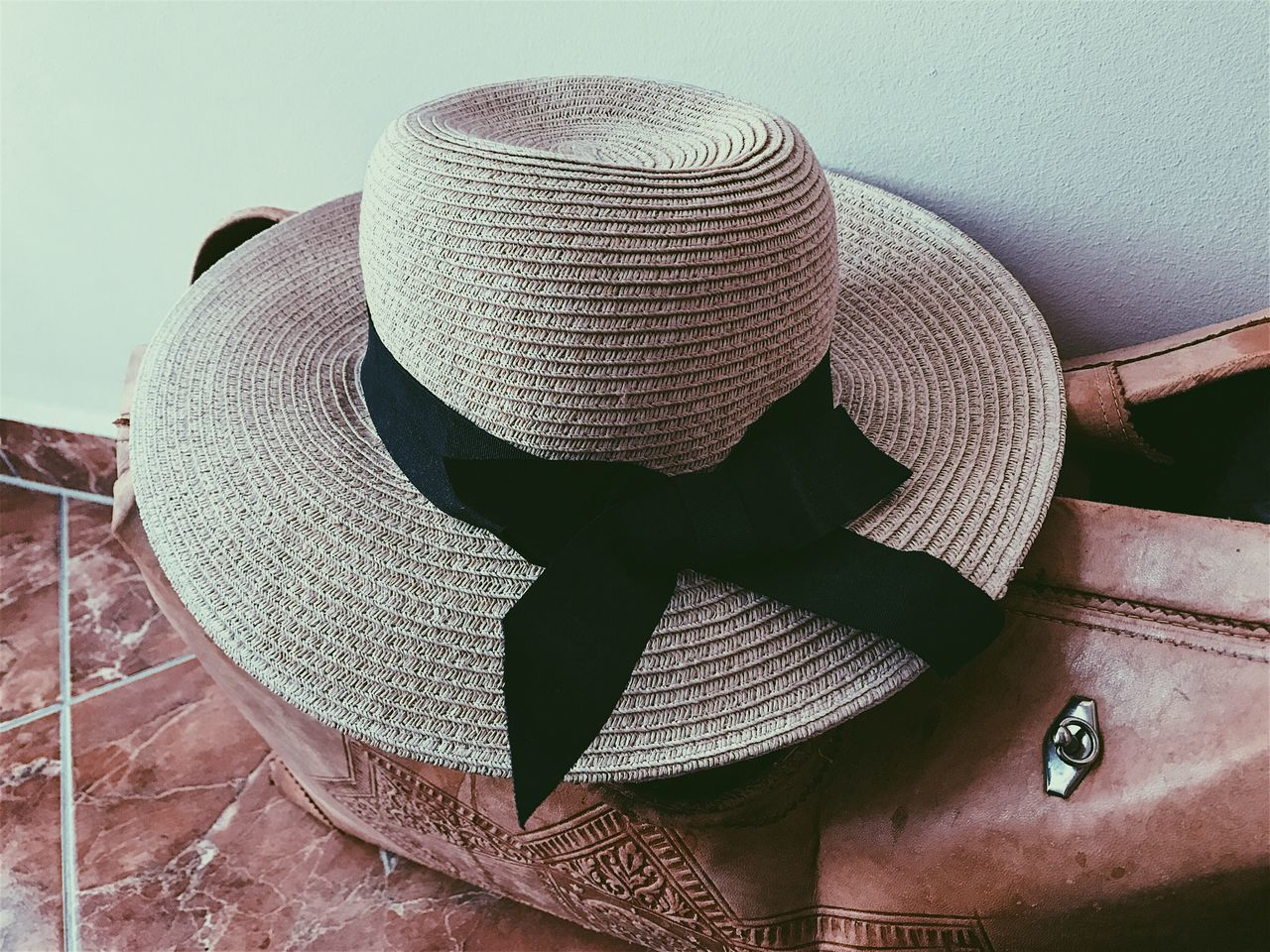 No People Day Indoors  Close-up Hat Woman Hat Summer Travel Bag Old Bag Vintage Woman Clothes