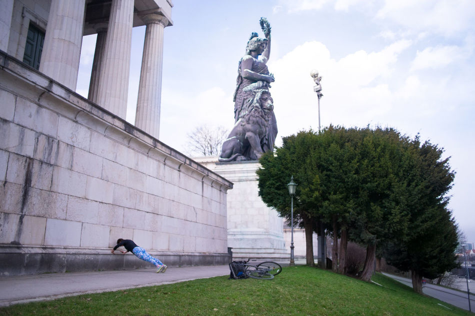 Bavaria Worshipping Sport Push Ups Enough Of Seeing Just The Tip Of The Feet ;-) This Is Munich