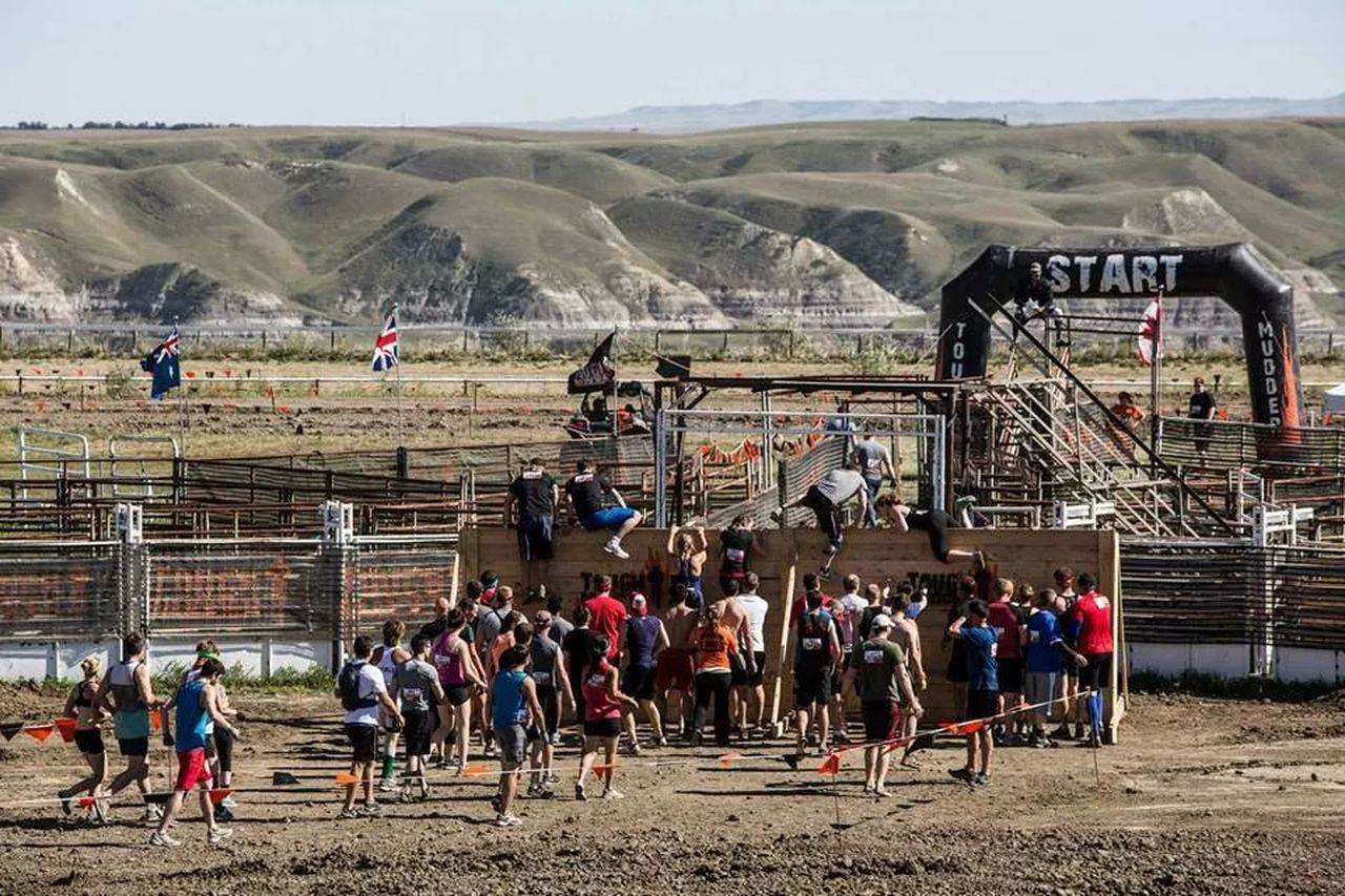 Toughmudderfinisher Alberta Badlands Drumheller