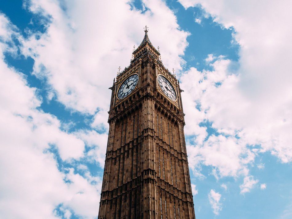 Architecture Big Ben Built Structure Clock Clock Tower Cloud - Sky Day Government London Low Angle View No People Outdoors Sky Time Tower Travel Destinations