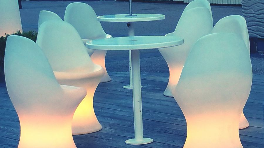 Lighted Seating Everyday Objects