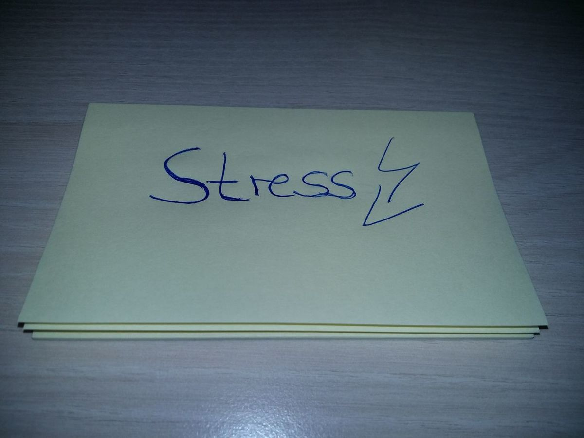 STRESS Close-up Communication Day Handwriting  High Angle View Indoors  Lightning Bolt Message No People Office Supplies Office Work Office Working Paper Post-it Post-It Note Sticky Note Stress Stress At Work Stress Relief Stressed Stressful Day Stressful Job Stressful Work Text Western Script