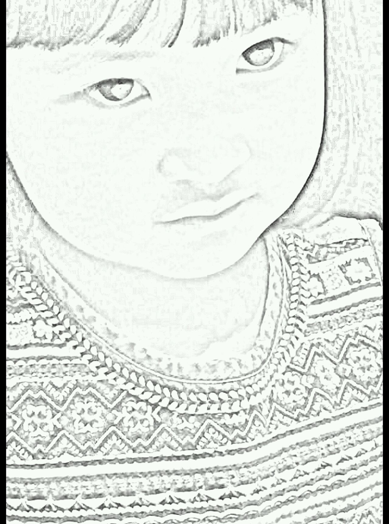 Art Creativity Art And Craft Close-up Childhood Girl Face Sketch