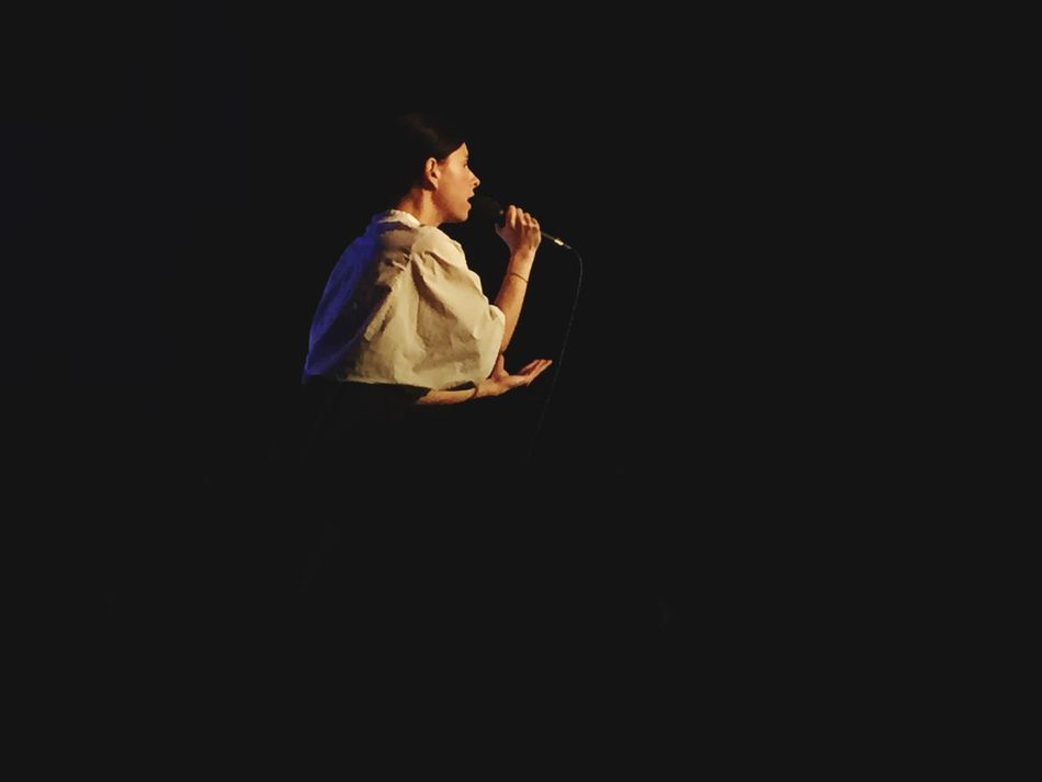 Black Background One Person Concert Balbina Singer  Indoors  On Stage
