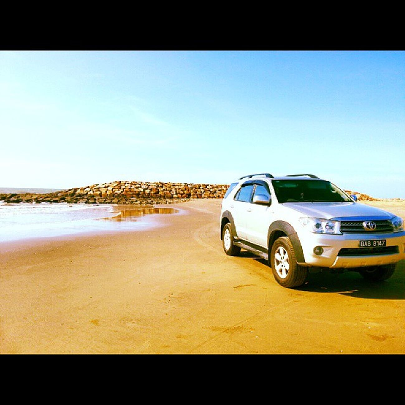 Get the beast tanned once a while. TBT  Toyota Fortuner Gangstaride miotherhalf beaching tanning