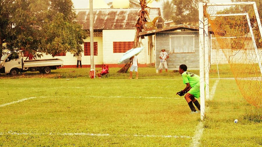 Trinidad Soccer Grass Trinidad's Photography Photography Outdoors Trinidad And Tobago Edit Football Playing Goalkeeper Soccer Player Goalie Keeper Goal Post Youth Onlookers