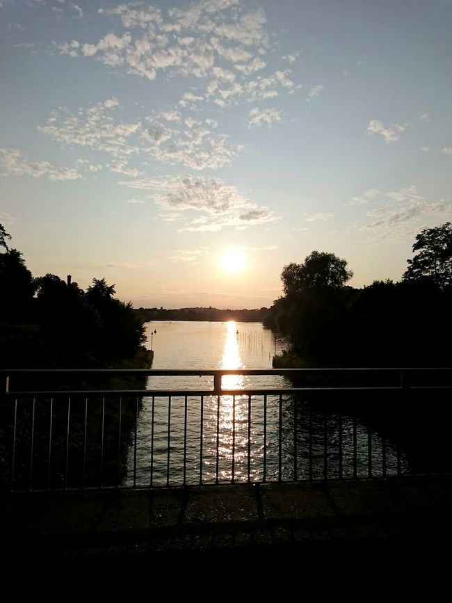 Good night Potsdam Babelsberg Beer Garden Sunset