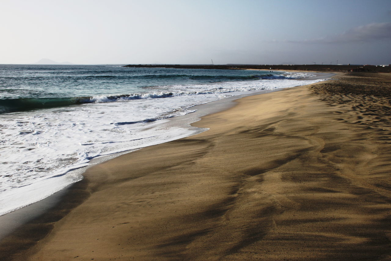Beach Beauty In Nature Capo Verde Day Horizon Over Water Nature No People Outdoors Sal Island Sand Santa Maria Scenics Sea Summer 2015 Tide Water Wave