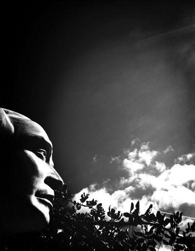 A Design for Life Statue Clouds And Sky Pretoebranco Introspection
