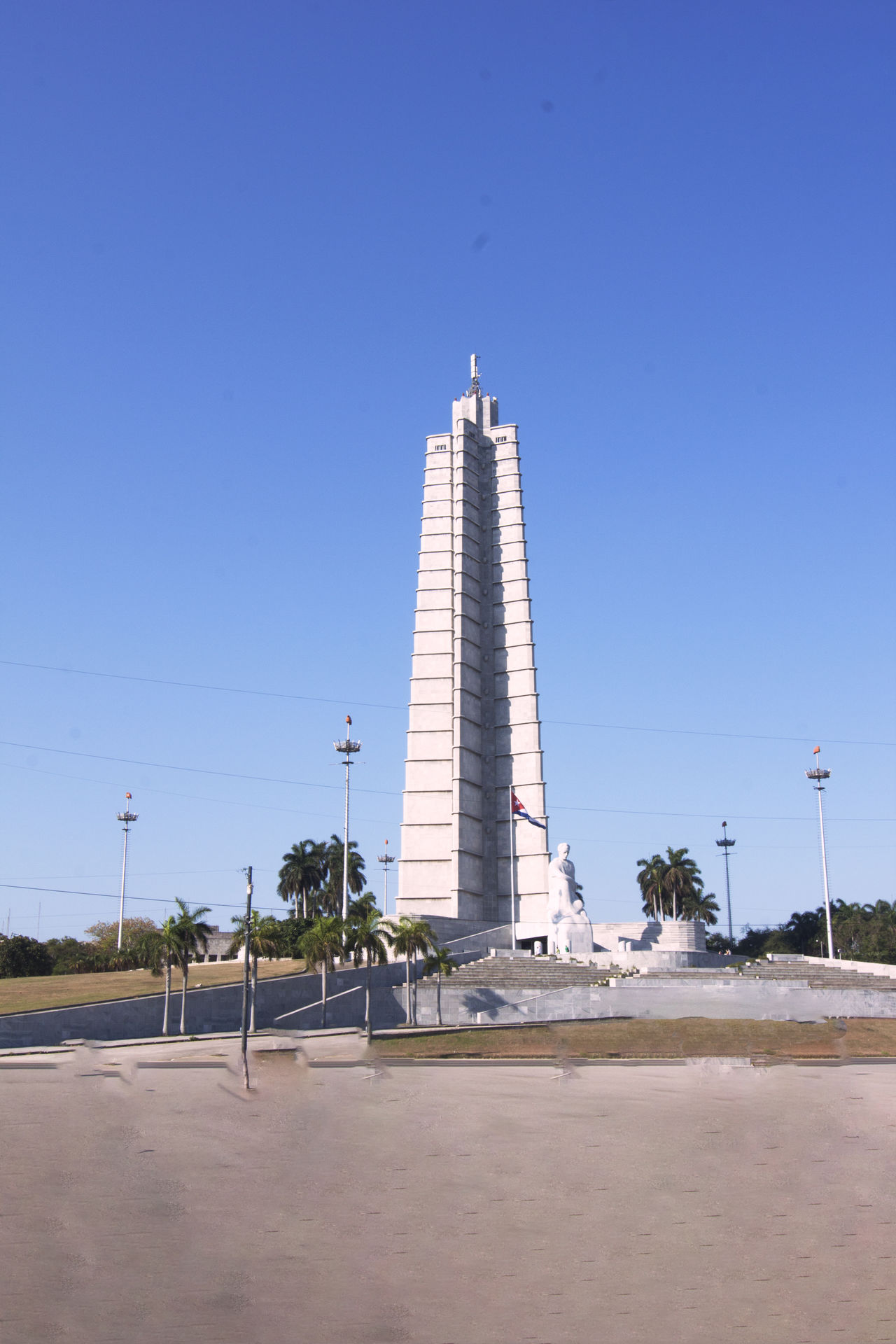 monument to josè martha square of the revolution of havana cuba Architecture Blue Building Exterior Built Structure City Clear Sky Day Jose, Havana, Marti, Revolution, Architecture, Habana, Monument, Cuban, Cuba, Liberty, National, Independence, Symbol, Revolutionary, Statue, Plaza, Revolucion, America,Monument To Josè Marty, Revolutionary, Square, Revolution, Havana, Cuba, Memory, Height, Tower, Monument, Tourism, Travel Low Angle View Nature No People Outdoors Sky Tree