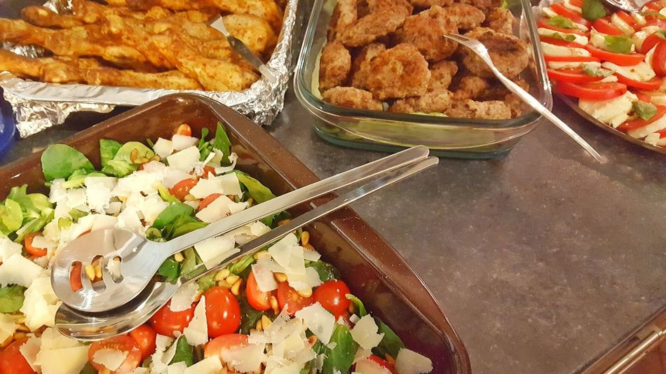 Food And Drink Freshness Food No People Healthy Eating Ready-to-eat Prepare Buffet Celebration Party Food Meal Eating With Friends Delicious Meat Healthy Fresh Birthday Celebrate