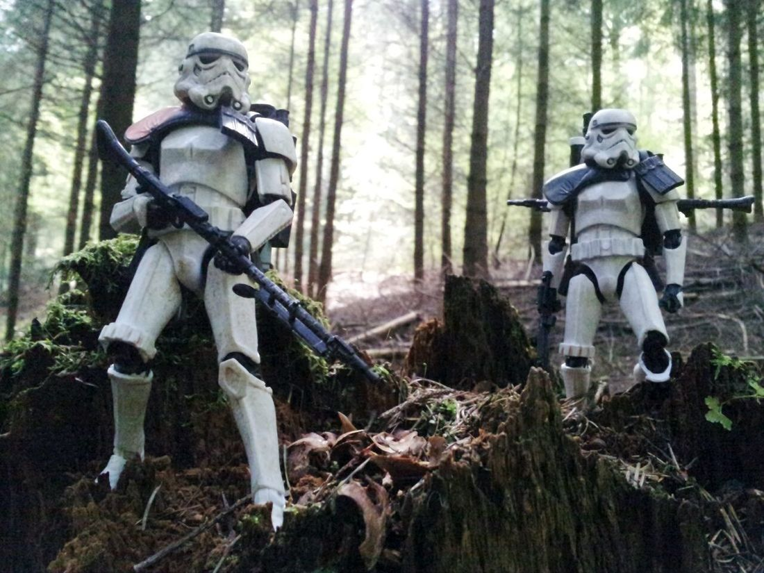 Hunter and the Hunted. Sandtrooper Black Series Toyphotography Starwars