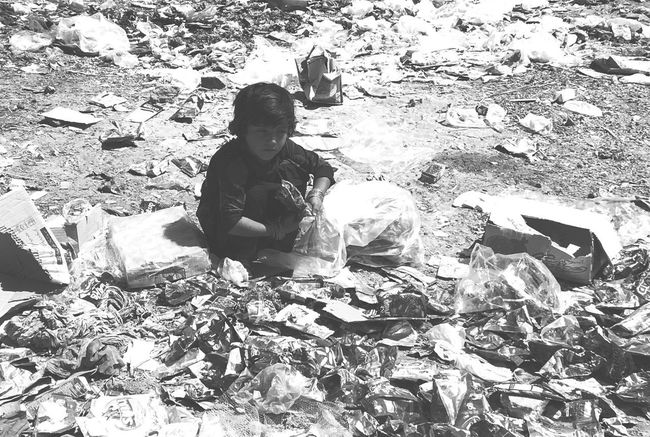 Poor Children Sitting Rubbish Looking For Eatable Thing Common View But We Ignore Sad Face Outdoors IPhoneography Full Length EyeEm Best Shots EyeEm Gallery People And Places