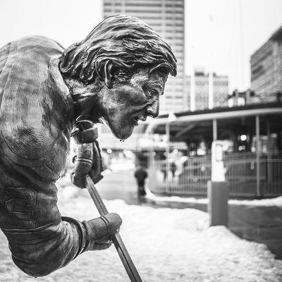 Still got @jackeichel11 on the mind. Who knows, maybe someday they will make a statue of him! Buffalosabres Buffalo Buffalony City POTD Photooftheday Sculpture Monument Timhorton Buffalove Buffalove15 Nhldraft