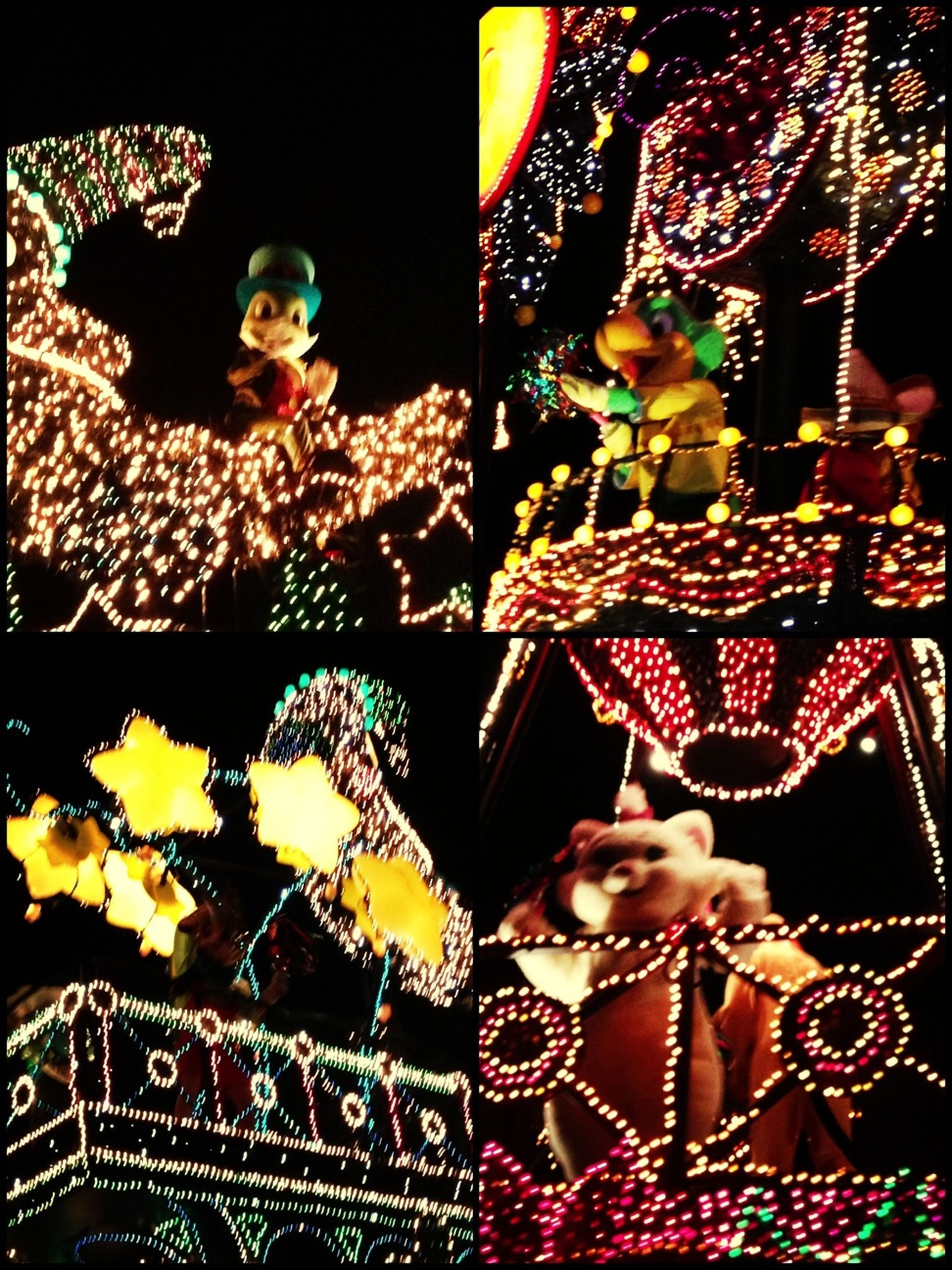 indoors, night, art and craft, art, creativity, tradition, human representation, illuminated, cultures, animal representation, decoration, statue, low angle view, christmas, celebration, portrait, christmas decoration, religion
