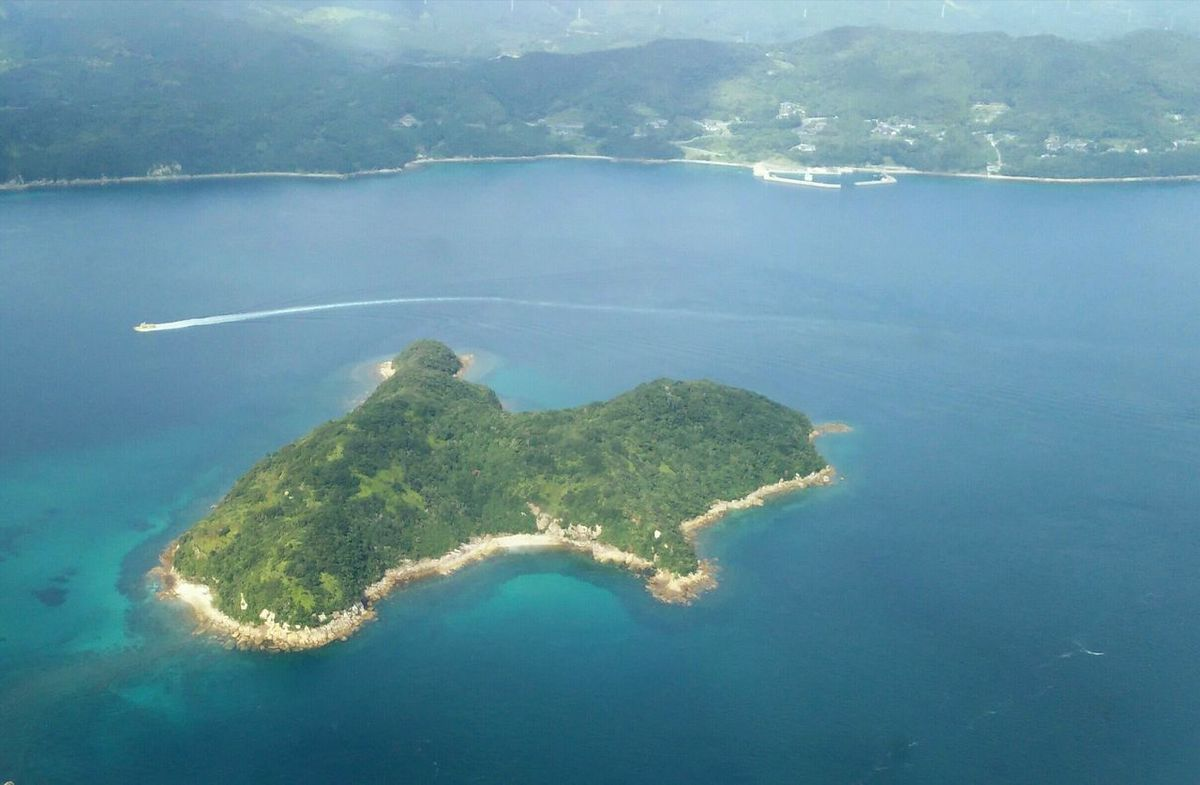 From The Plane Window Island Beauty In Nature Airplane Aerial View Seascape 五島列島