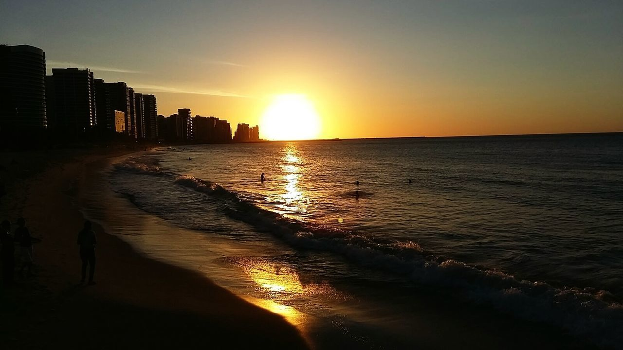 In Fortaleza -Ce Beasil City Sunset Sunset Beach Sand Sea Travel Destinations Water Sun Sunlight Sky Vacations Reflection Summer Nature Beauty In Nature The Great Outdoors - 2017 EyeEm Awards EyeEmNewHere The Street Photographer - 2017 EyeEm Awards BYOPaper! Energy Place Live For The Story Lifeisbeautiful Wiew Is Incredible Tourism Fantastic Sunset. Fantastic Day