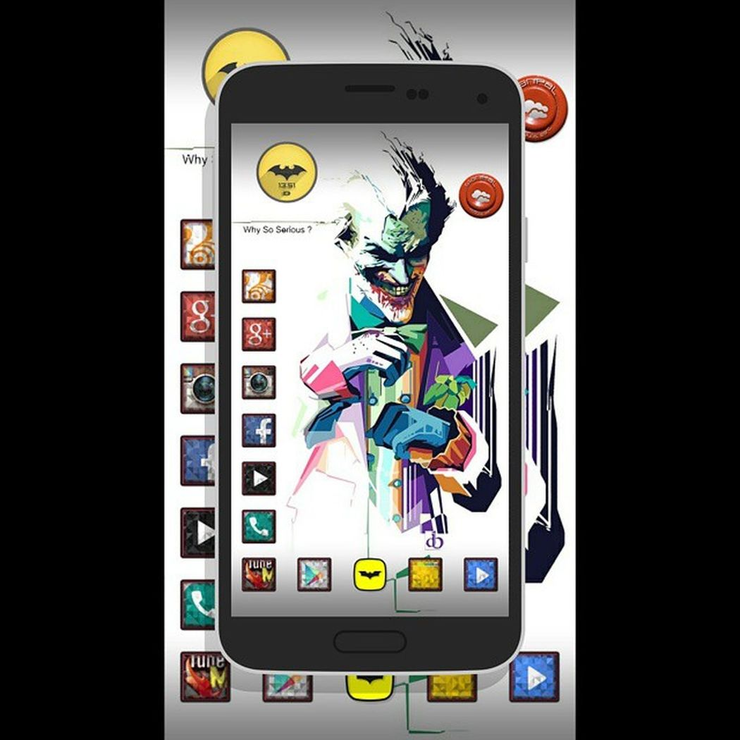 Samsung Galaxy S5 Todays Screen Setup Joker Whysoserious Zooperwidget Icons NovaLauncherPrime Adobephotoshop .... took me 5days to make this screen
