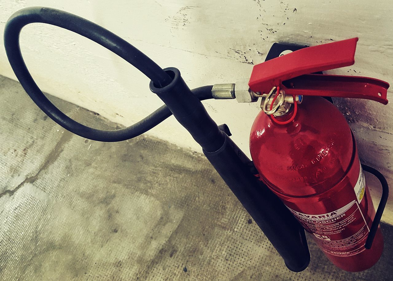 Extinguisher Red Color Red Indoors