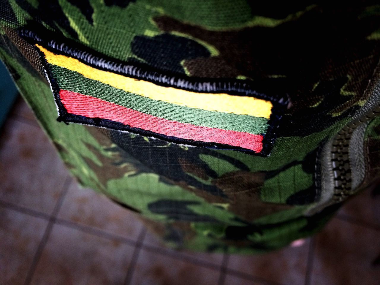 Because it matters! Lithuania Flag Army Close-up