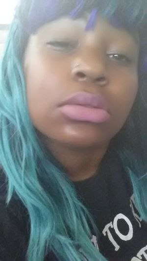 Dem lips doe ? Don't Let That Pretty Face Fool You, I Roll Like A Boss! Snapchat Pretty Mutha Fuckaa Looking For Trouble