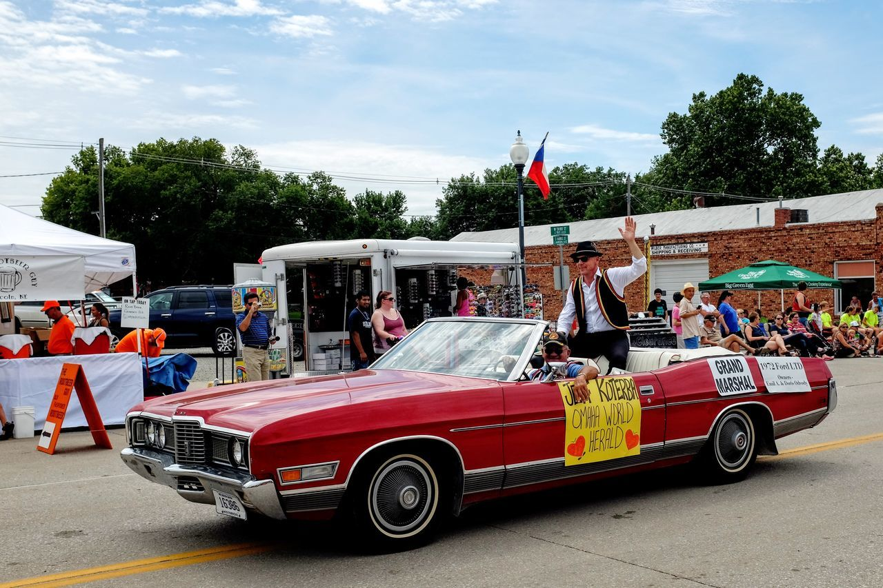 55th Annual National Czech Festival August 5, 2016 Wilber, Nebraska Celebrate Your Ride Color Photography Convertible Ride Czech Days Czech Festival Event EventPhotography Land Vehicle Main Street USA Midday Sunlight Mode Of Transport Nebraska Outdoors Parade Smal Town USA Small Town USA Vintage Cars Wilber, Nebraska