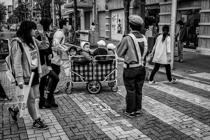How They Roll Japan Japanese  Streetphotography Streetphoto_bw Blackandwhite Monochrome People Kids Cute FujiX100T