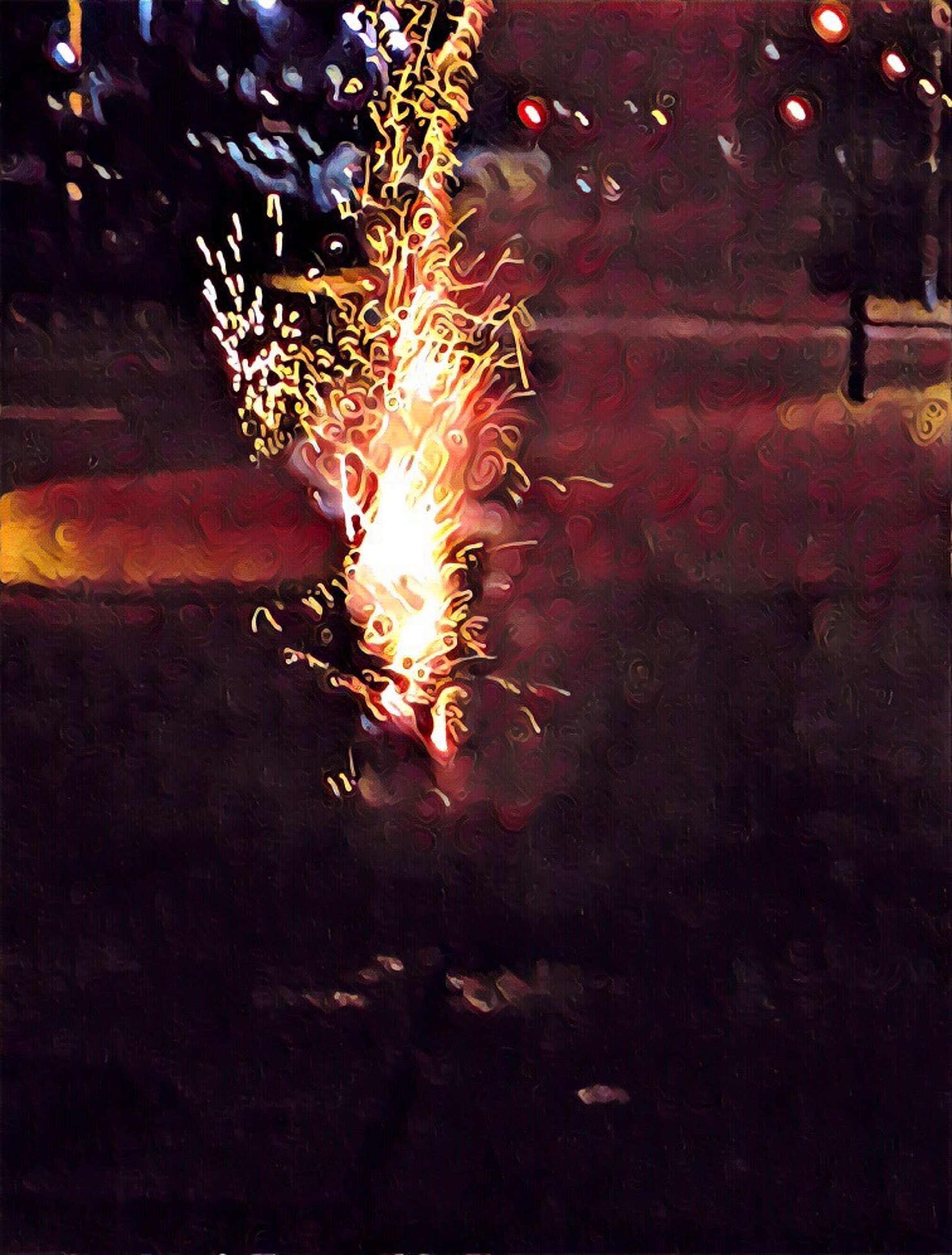 night, illuminated, outdoors, sparks, no people, firework - man made object, close-up, firework