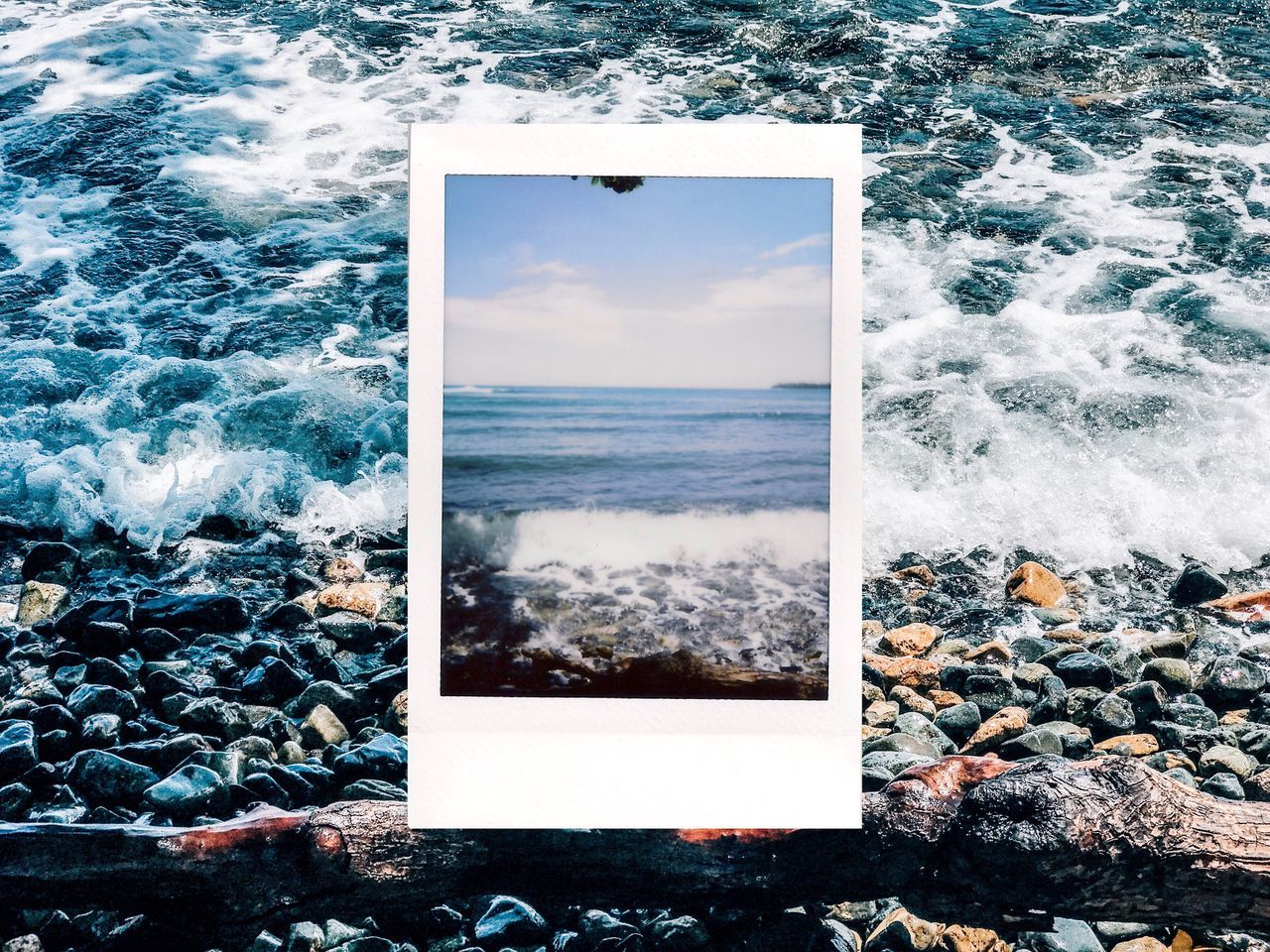 Instant Photo A Day Puerto Rico Sea Water Motion Wave Breaking Nature Beauty In Nature Day No People Power In Nature Beach Outdoors Horizon Over Water Crash Scenics Force Sky Film Photography