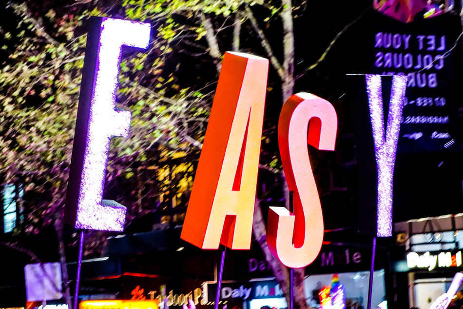 take it easy Australia Beauty In Everything Communication Darlinghurst Gay Gay Pride GenderEquality Illuminated Joy Letters Lights Lights On Mardi Gras Multi Colored Night Nightphotography Outdoors Parade Pride Queer Sign Streetlife Sydney Text Word