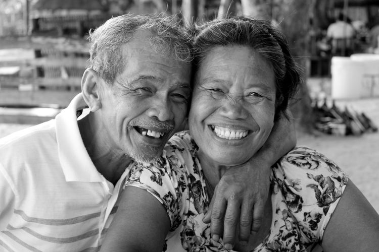 Close-up Couple Enjoying Life Eyeemph Forevermore Greatcouple Happiness Life Love Lovers Mature Adult Memories Mid Adult Men Oldage Person Portrait Smiling Sweet The Photojournalist - 2016 EyeEm Awards The Portraitist - 2016 EyeEm Awards Toothy Smile Monochrome Photography