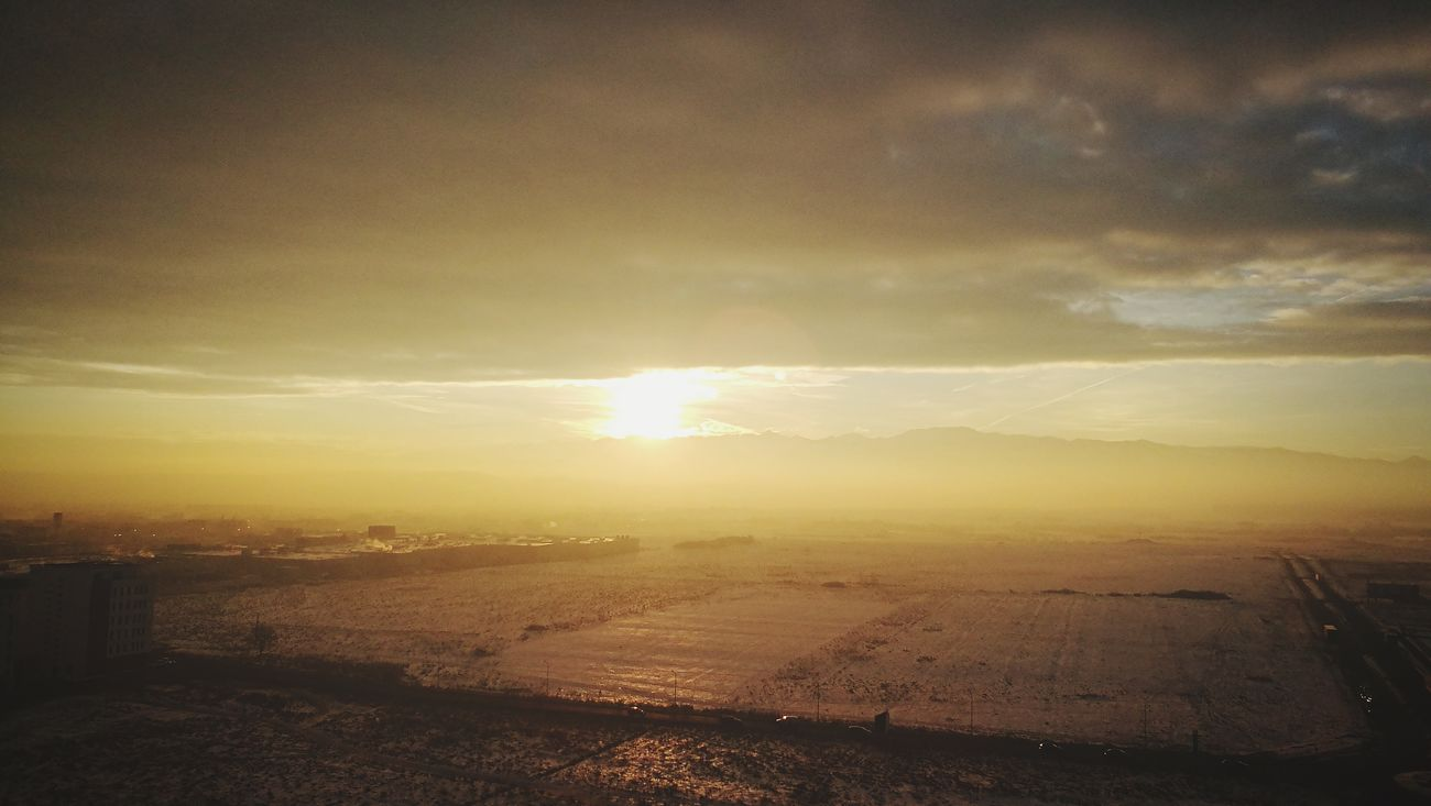 Apocalypse Sunrise Goodmorning Daylight Snow ❄ Landscape City No People Transylvania Sunset Beach Beauty In Nature Nature Outdoors Aerial View Sand Scenics Tranquility Sky Water Day