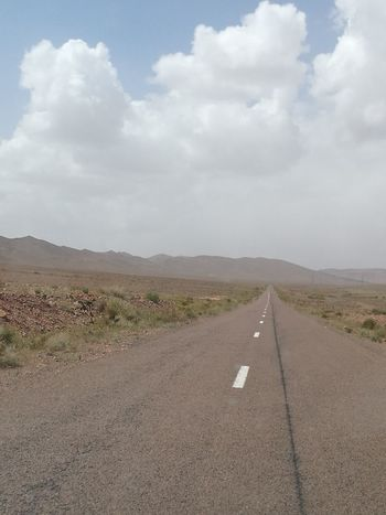 Cloud - Sky Landscape Outdoors Day Road Desert The Way Forward No People Sky Nature Beauty In Nature Oil Pump