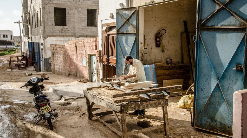 Marocco Mirleft Wood Craft Handcraft Streetphotography Street Woodshop Furnitures Roadtrip Traveling Outdoors Man Working EyeEm Best Shots Eye4photography  My Year My View