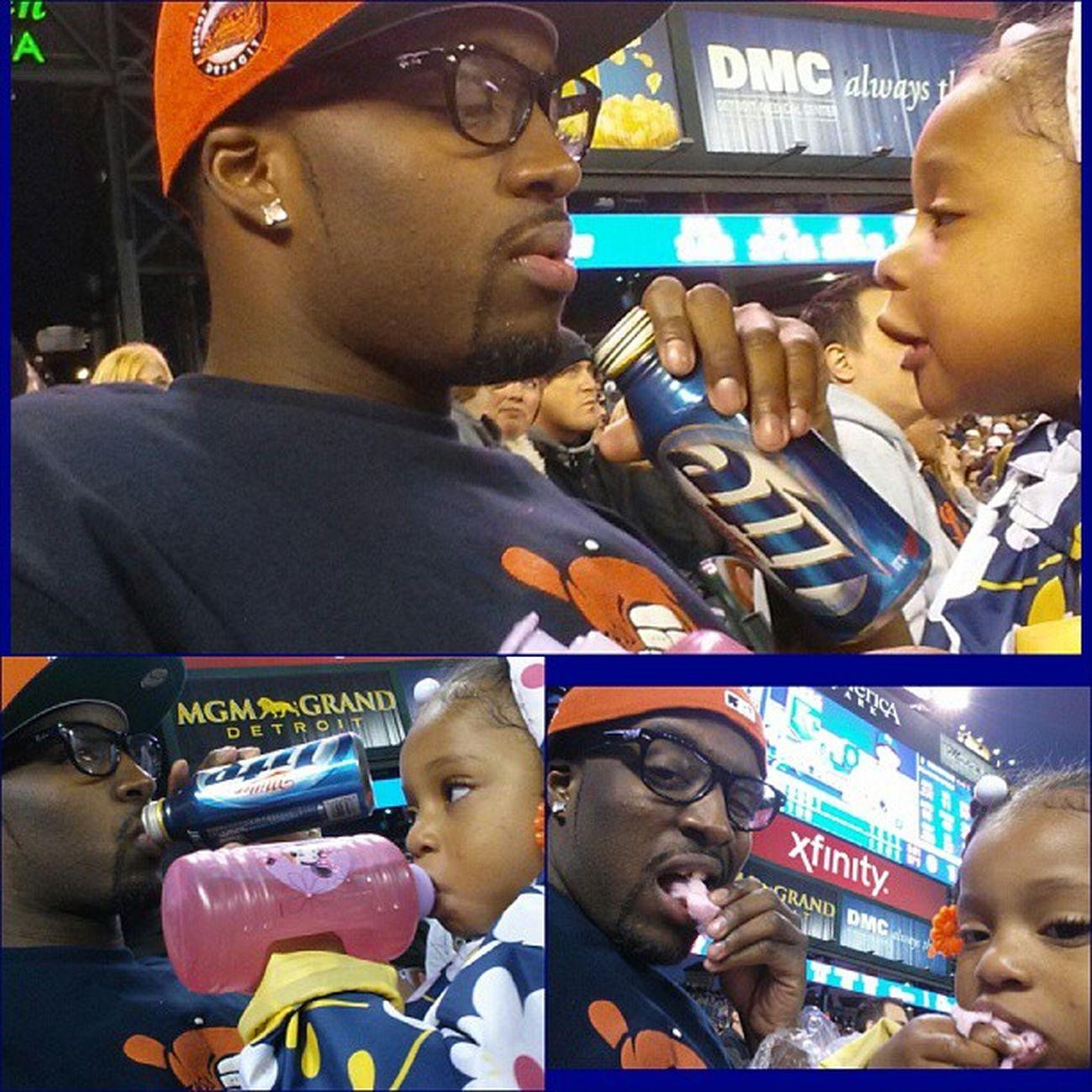 Me & Lil' Ace at the Tiger game a couple weeks ago FamilyFun  Daddydaughtertime WeGetOnEachOthersNerves ButStillLoveEachOther SheAskedForBeer DidntGetIt TeamMartin TeamAce