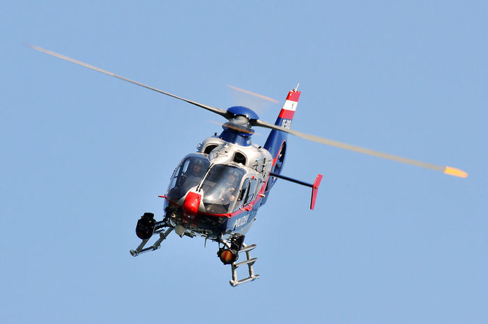 Day Eurocopter Flying Helicopter Mid-air Outdoors Police Wolfgangsee